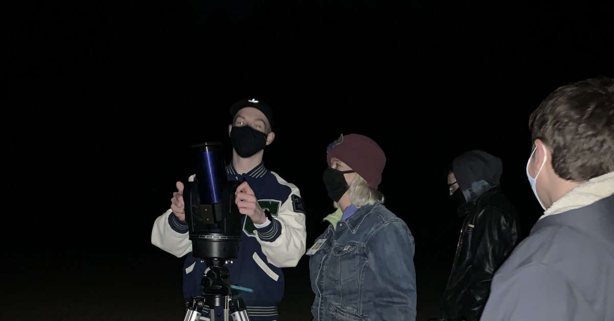 Creekview High School teacher, Ms. Panik, helped students with star-gazing project