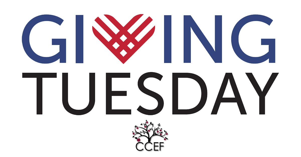 Giving Tuesday text with CCEF logo