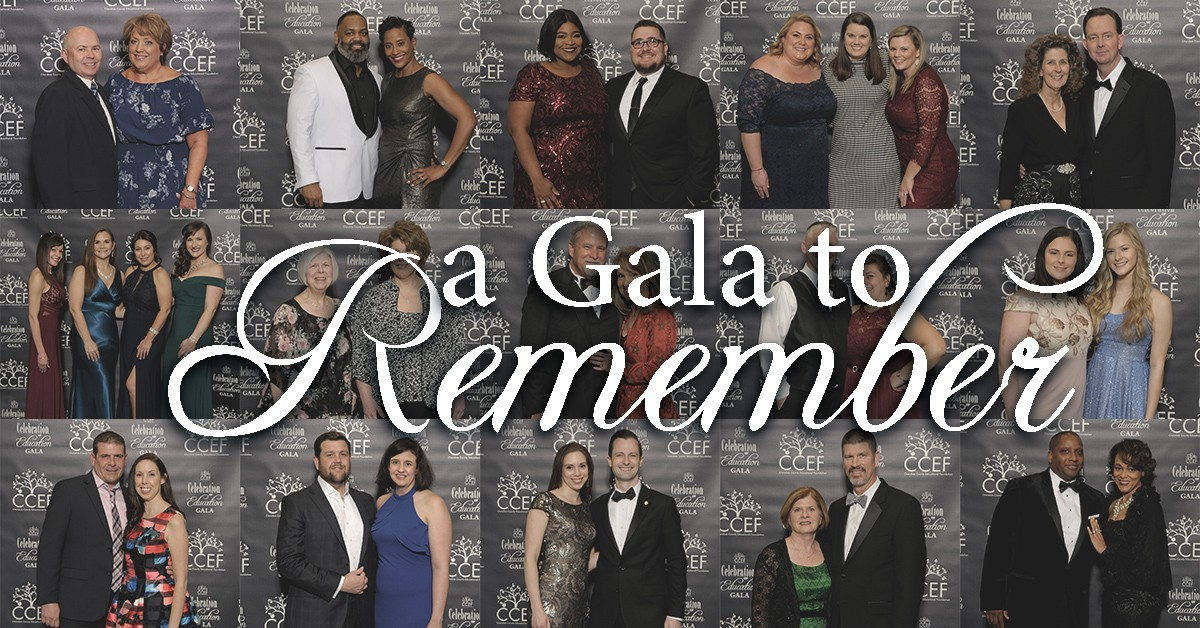Collage of portraits of Gala attendees.